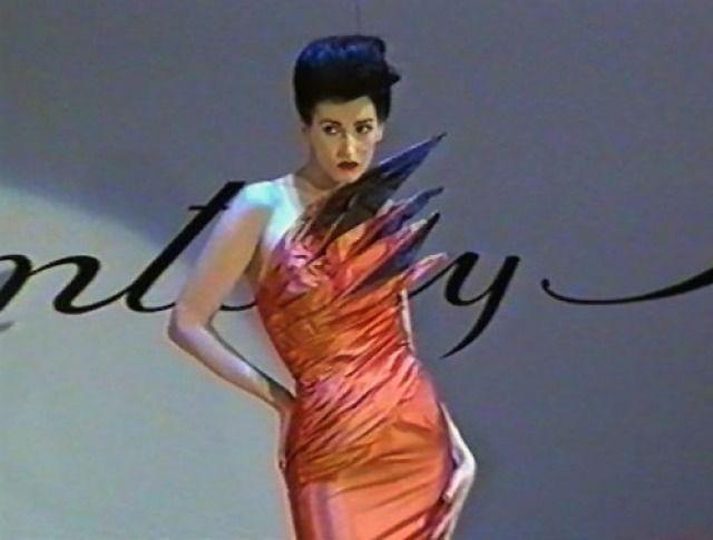 1980s orange taffeta 'Macaw' dress by Antony Price