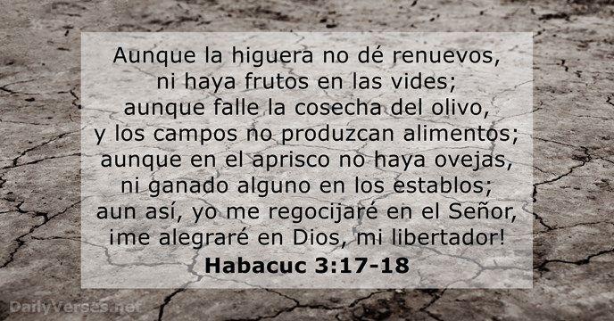 Habacuc 3:17-18 - dailyverses.net