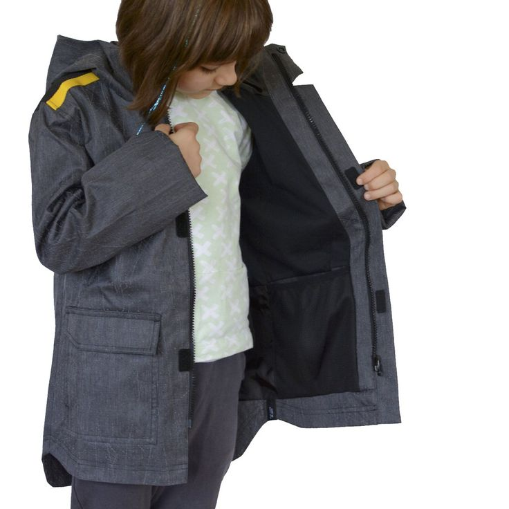 Our children's clothing uses high tech reflective material for ultimate visibility. Sophisticated, hip length, hooded rain jacket. Play Hard / Be Seen with Zapped Outfitters ...reflective gear for kids.