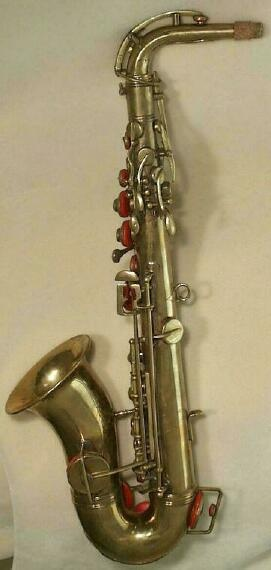 antique french saxophone