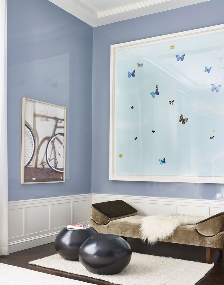 Damien Hirst butterlies & Nara contemporary art displayed with contemporary furniture, by Deborah Berke Partners