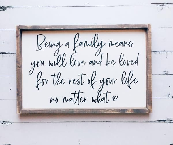 Being A Household Means You Will Love And Be Beloved | Household Room Wooden Signal