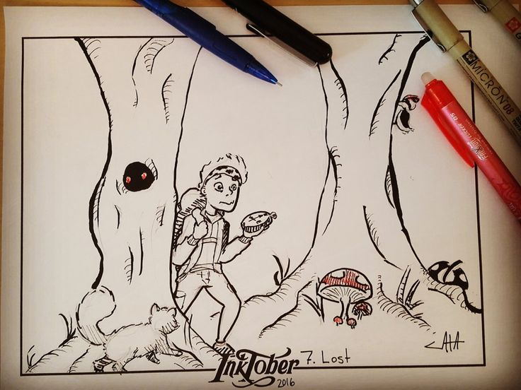 #inktober Day 7: Lost, by CatasCreations on DeviantArt