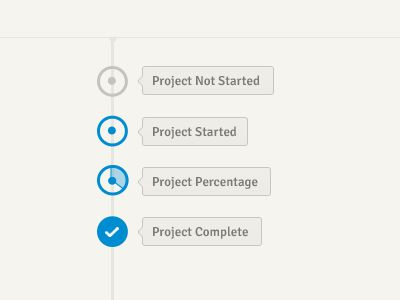 Dribbble - Project Timeline Status Elements by Jason Mayo