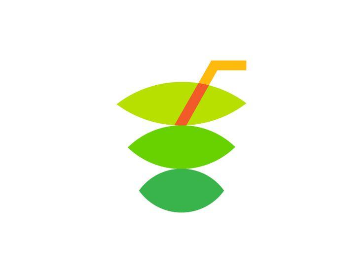 🍹+ 🍃 Naturo Juice Logo by Vadim Carazan
