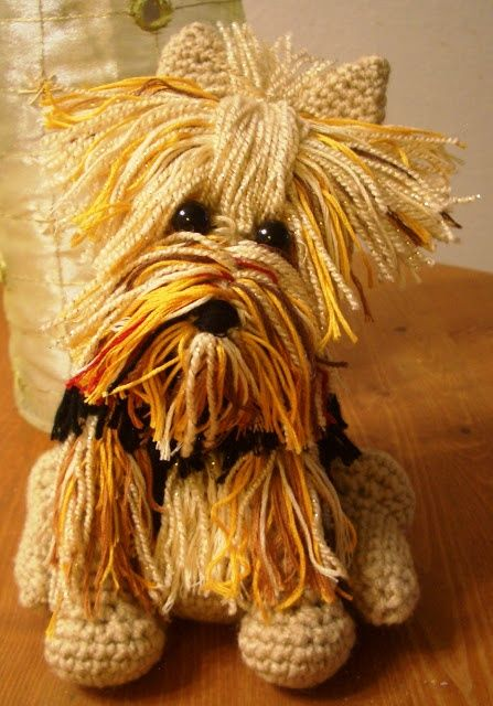 Beauty. Amigurumi Yorkie Tutorial and free pattern: thanks so for this amazing pin. Kind lady to do it for us all! xox.