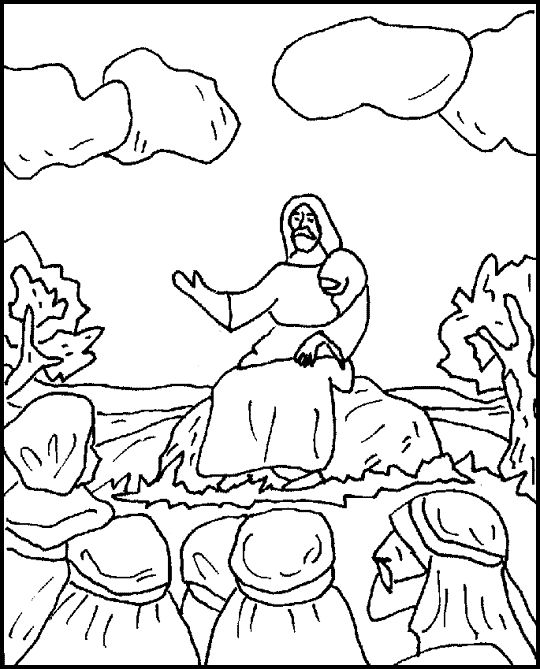 Children s ministry sermon on the mount on pinterest coloring