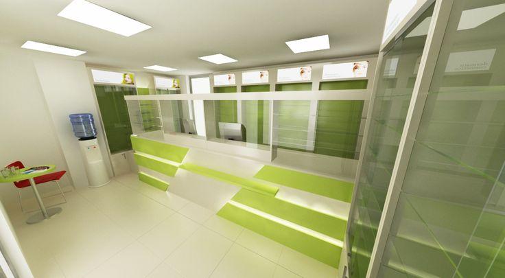 Counter cu 2 sau 3 posturi de servire si elemente personalizate de design.  http://www.sertarefarmacii.ro/proiecte/