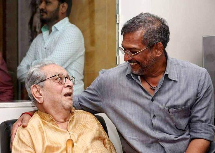 Two greats of Indian cinema. Dr. #ShreeramLagoo played the role of 'Natsamrat' in the immensely popular play Natsamrat. It was first featured on stage in the year 1970 in Birla Matoshri Sabhagruha, Mumbai. And #NanaPatekar played 'Natsamrat' in the Marathi movie Natsamrat (2016).