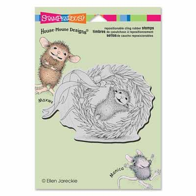 """""""CLING WREATH ROLLING"""", Stock #: HMCP52, from House-Mouse Designs®. This item was recently purchased off from our web site. Click on the image to see more information."""