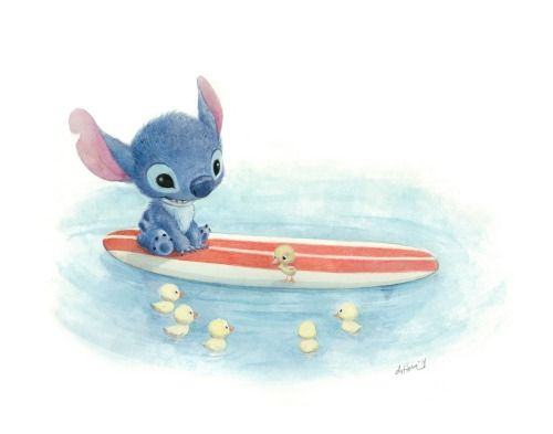 """My second piece for the Wonderground Gallery at Disney, """"Swimming Lessons"""""""