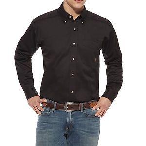 Ariat Men's Solid Black Longsleeve Shirt   southtexastack.com