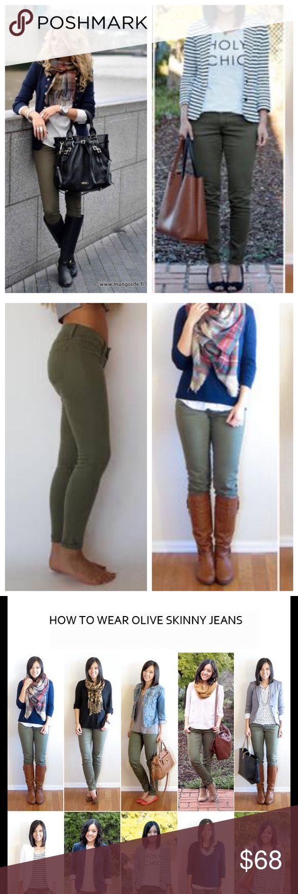 Super stretchy designer olive skinny jeans Brand new high end olive skinny jeans. Super stretchy. Made in Los Angeles Judy Blue Jeans Skinny