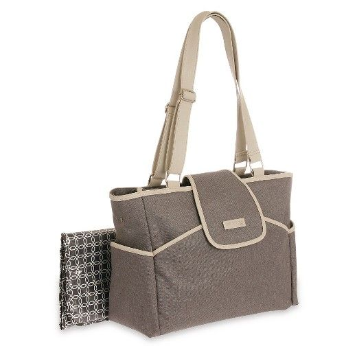 JOY by Carter's Fashion Flap Tote Diaper Bag - Grey Flannel : Target