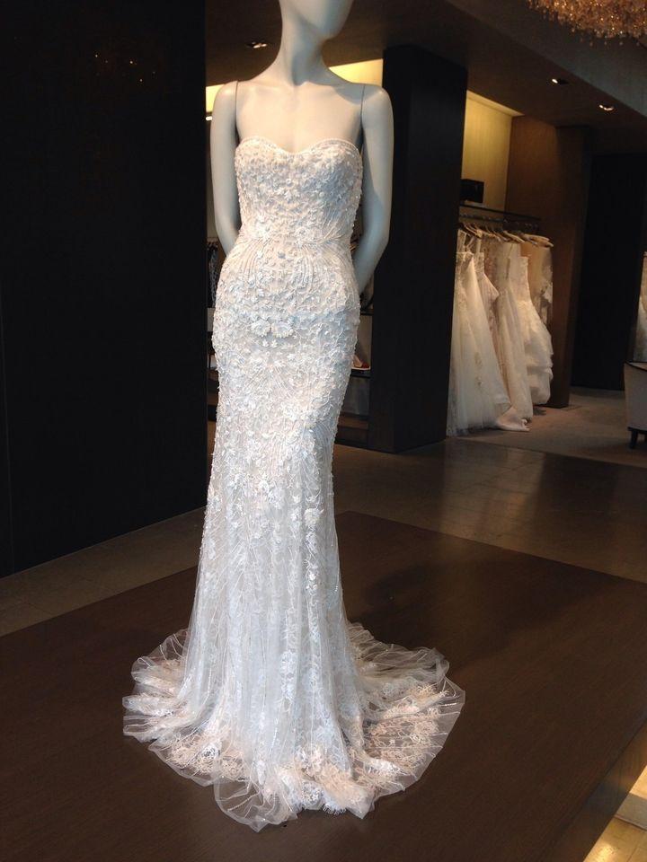 White Silk And Chantilly Lace Gwyneth Wedding Dress ResaleWedding