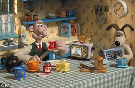 Wallace and Gromit movies will play all day long.