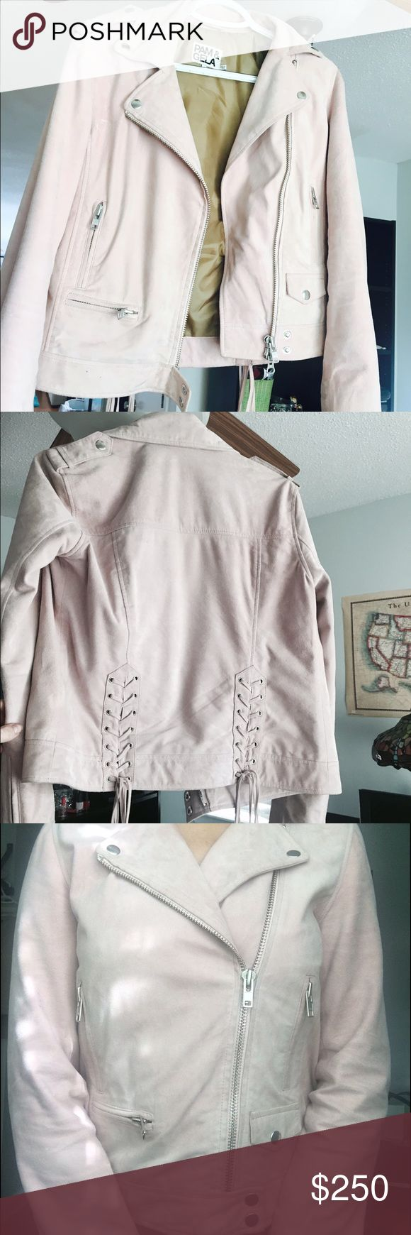 Pam&Gela authentic suede  jacket❤️ Condition very good, light pink color Jackets & Coats
