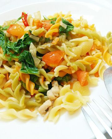 Spicy Vegetable Chicken Pasta ~ my homecooking