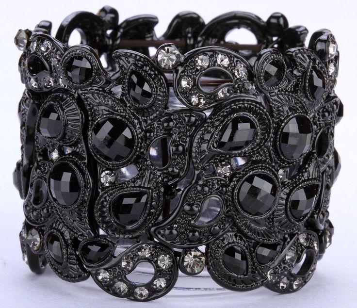 Floral stretch bracelet vintage style flower crystal women fashion jewelry gifts B10 wholesale dropship www.bernysjewels.com #bernysjewels #jewels #jewelry #nice #bags