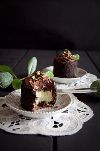 Chocolate cake with feijoa (pineapple guava) mousse