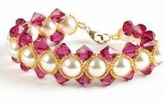 Free Seed Bead Patterns   Free easy pattern for bracelet Radleja   Beads Magic