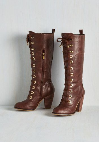 Prospectress Boot - I fell in love with these as soon as I saw them on modcloth, and I just ordered them today. So cannot wait to wear them!