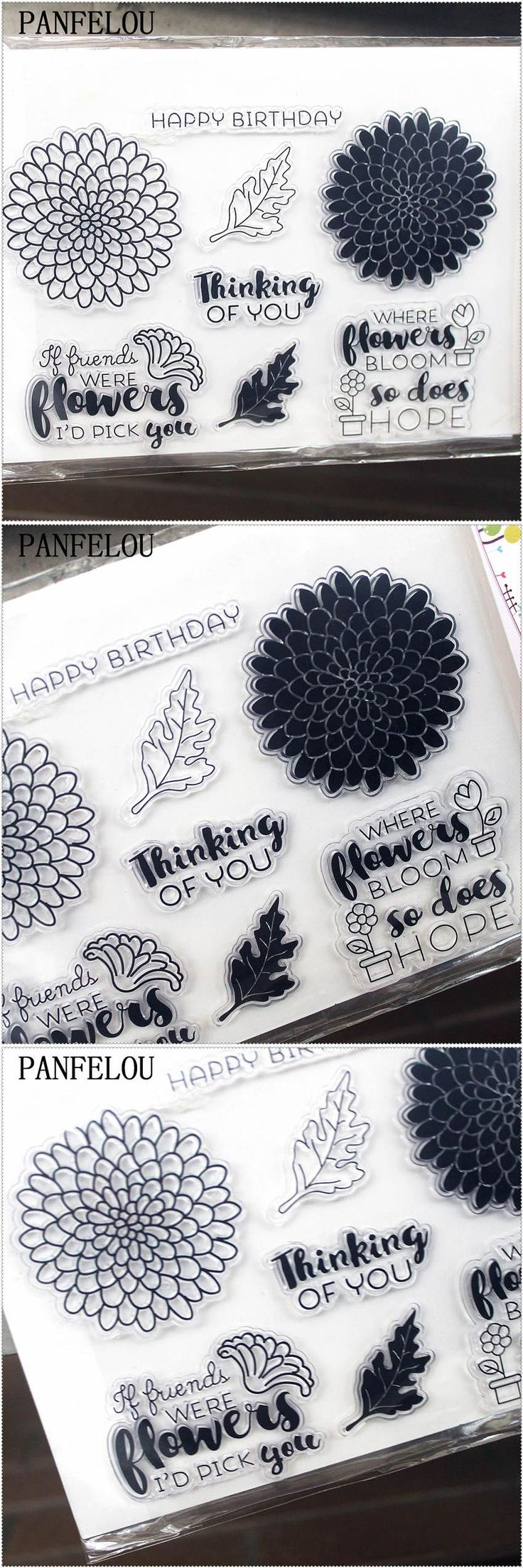 [Visit to Buy] PANFELOU 11.3*15.56cm Flowers leaf series Transparent Silicone Rubber Clear Stamps cartoon for Scrapbooking/DIY  wedding album #Advertisement