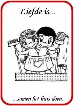 Liefde is... ...samen het huis doen