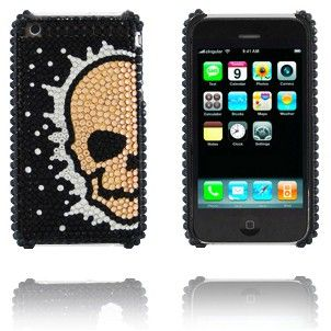 Diamond Skull (White bronze) iPhone Cover til 3G/3GS Lux-case.dk