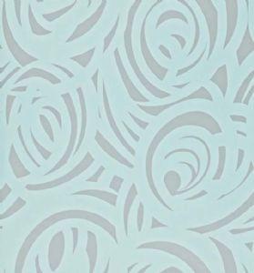 Harlequin  Vortex Wallpaper - Silver/Duckegg 110079