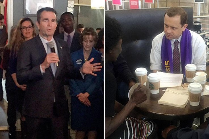 Virginia Lt. Gov. Ralph Northam (D), left, addresses people packed in a Leesburg restaurant on Feb. 27. Virginia gubernatorial candidate Tom Perriello meets with airport workers at Ronald Reagan National Airport on March 9 to support their efforts for a $15 minimum wage. (Fenit... http://usa.swengen.com/the-2017-sweet-spot-the-washington-post/