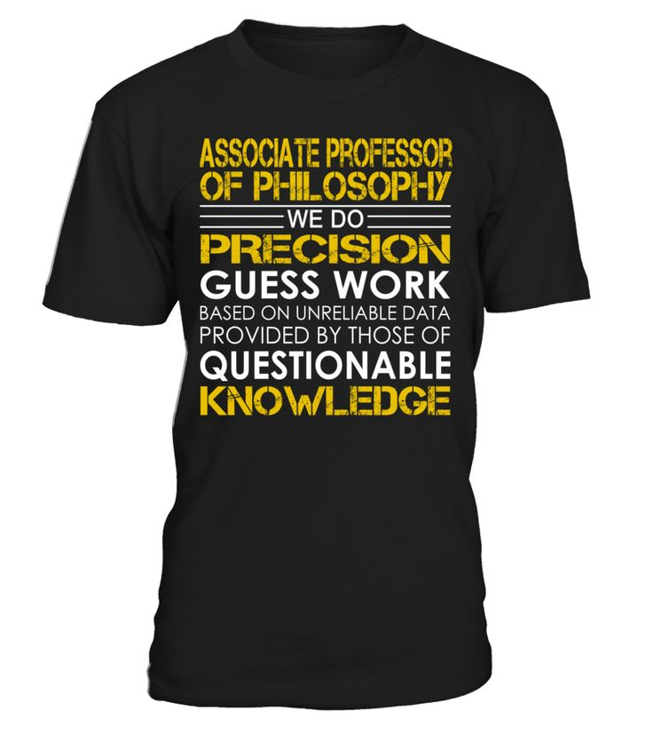 Associate Professor of Philosophy - We Do Precision Guess Work