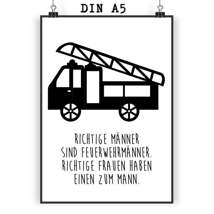 Poster DIN A5 Feuerwehr aus Papier 160 Gramm  weiß - Das Original von Mr. & Mrs. Panda.  Jedes wunderschöne Poster aus dem Hause Mr. & Mrs. Panda ist mit Liebe handgezeichnet und entworfen. Wir liefern es sicher und schnell im Format DIN A5 zu dir nach Hause. Die Größe ist 148 x 210 mm.    Über unser Motiv Feuerwehr  Sie sind immer für uns da, helfen unseren Katzen von den Bäumen, löschen jeden Brand und sind rund um die Uhr erreichbar - unsere freiwillige Feuerwehr.     Verwendete…