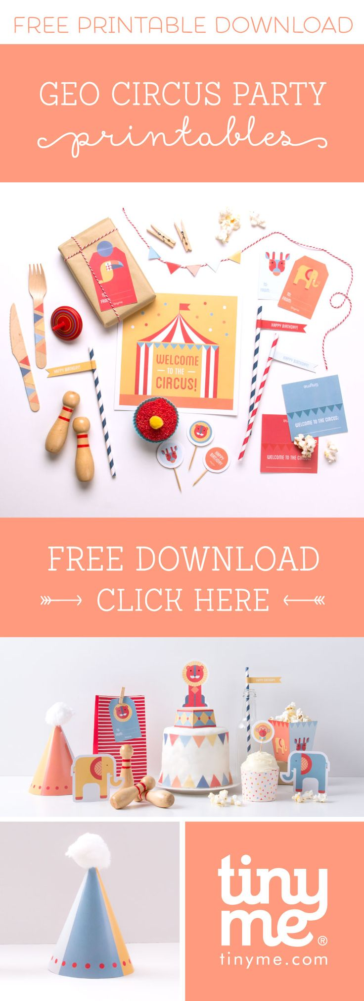 Join in the fun with our silly selection of Free Geo Circus Party Printables | Tinyme Blog