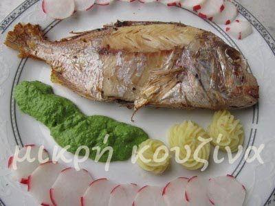 μικρή κουζίνα: Φαγκρί στη λαδόκολλα με πέστο ρόκας