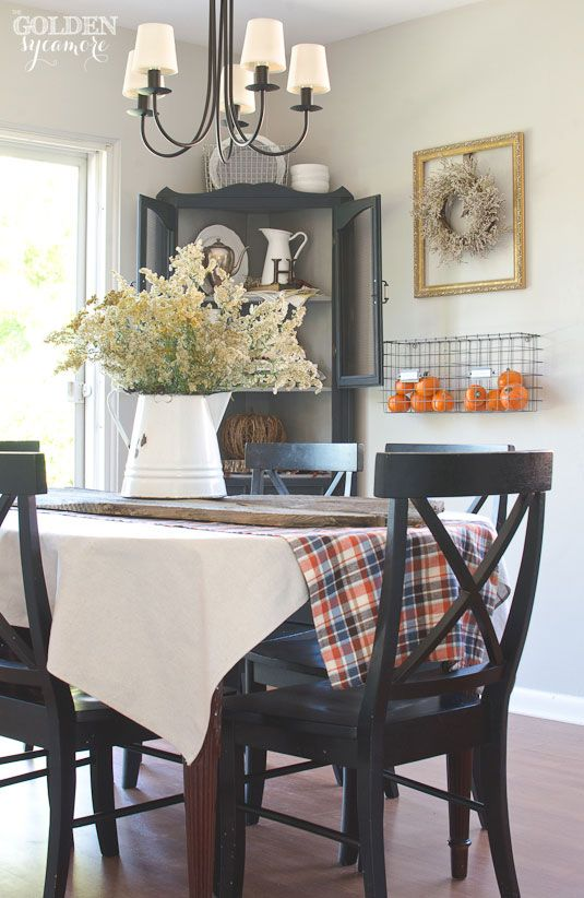 Fall home tour - rustic dining room: