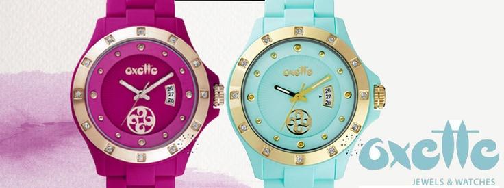 Ρολόγια OXETTE σε μοντέρνα σχέδια και χρώματα!  Δείτε όλη τη συλλογή εδώ: http://www.oroloi.gr/index.php?cPath=427