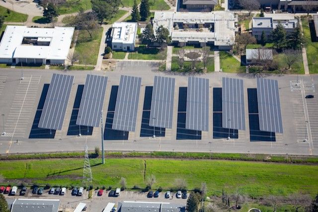 California College Invests In 1 Mw Solar Carport To Offset 100 Percent Of Its Energy Use Energy Use Solar College