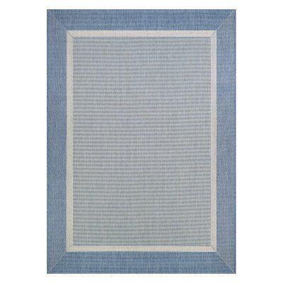 Couristan Recife Stria Texture Indoor/Outdoor Area Rug Champagne/Blue - 55261212020037T