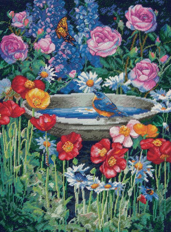 Garden Reflections Cross Stitch Kit £46.00 | Past Impressions | Dimensions