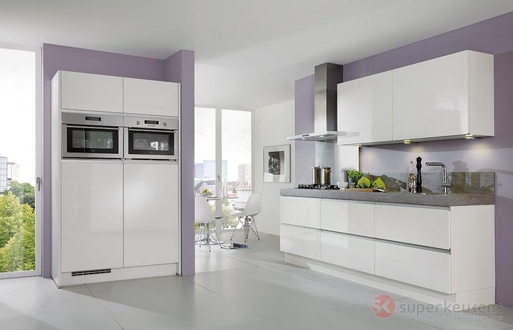 Behang keuken kwantum - Eigentijdse keuken grijs ...