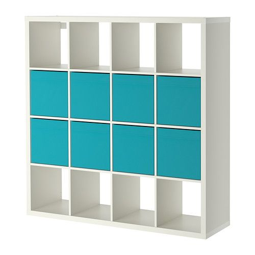 Shelving unit with 8 inserts KALLAX/DRÖNA White | Shelving ...