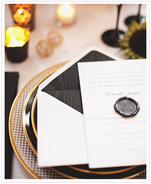 Adding a wax seal to a modern wedding invitation...love the vintage feel.