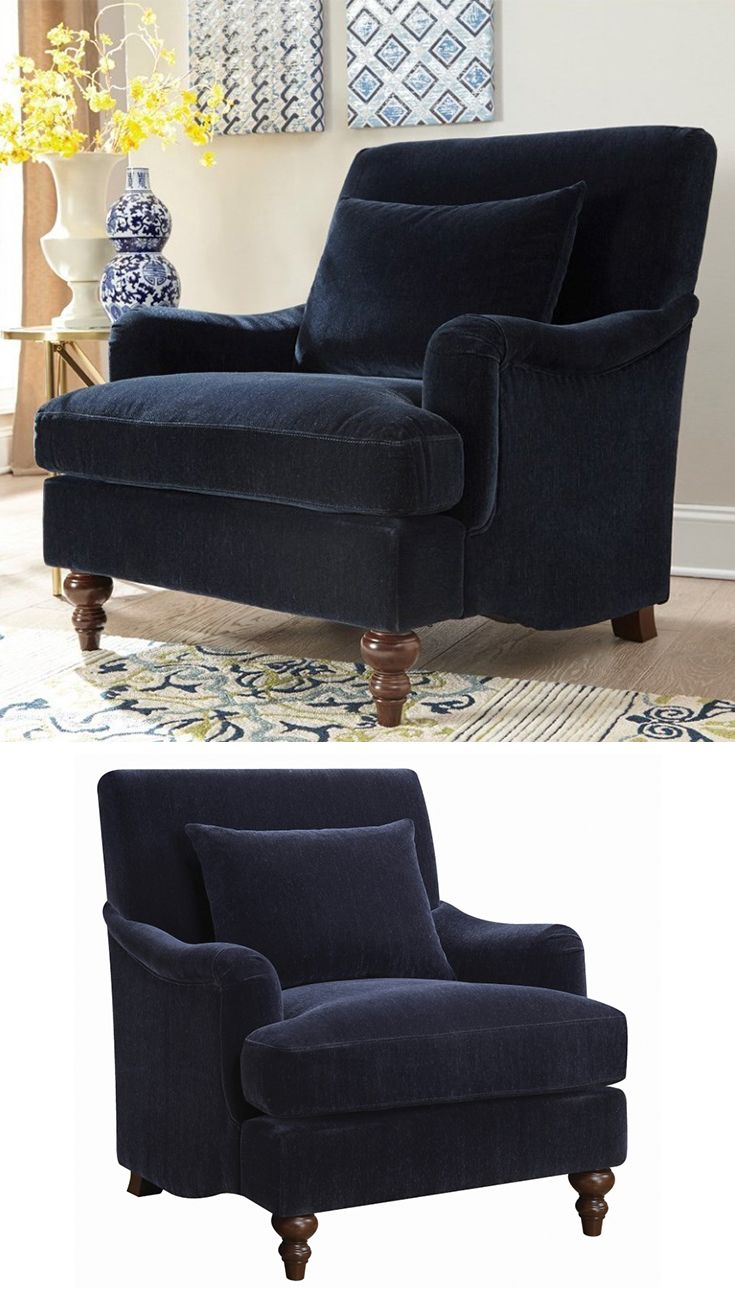 Part Of The Line The Midnight Blue Accent Chair Embodies Elegance