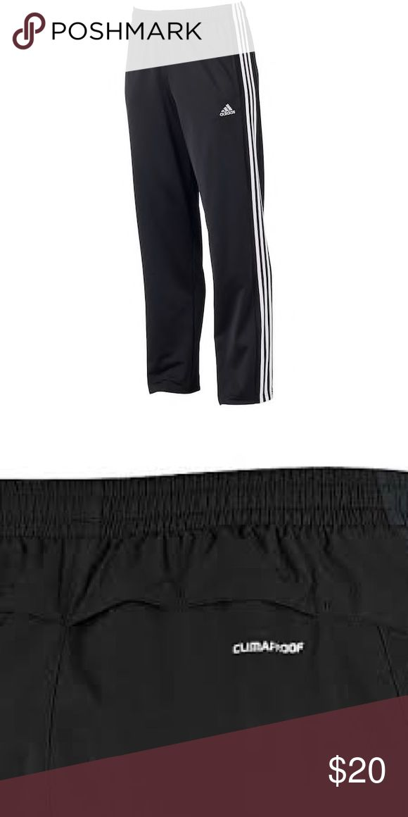 Men's adidas clima proof wind pant Black with white clima proof wind pant. Bought and didn't fit, look brand new and are just like brand new! adidas Pants Sweatpants & Joggers