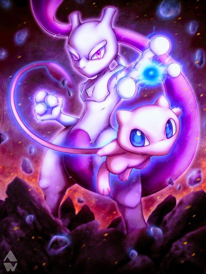 Mewtwo Mew Pokemon Mew And Mewtwo Mew Pokemon Card Cute Pokemon Wallpaper