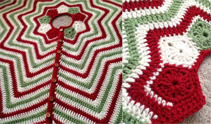 This highly festive and seasonal Christmas Tree Skirt will be the crowning touch for your tree. Done in red, green and white, this will be a stunning addition to your living room Christmas decor, a great underpad for your presents and will protect your floor from needles. No tree looks entirely complete without a tree
