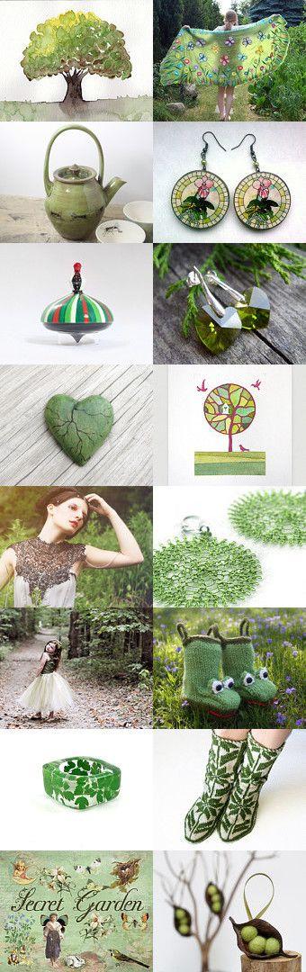 Green summer II by Dorota Kościelniak on Etsy--Pinned with TreasuryPin.com