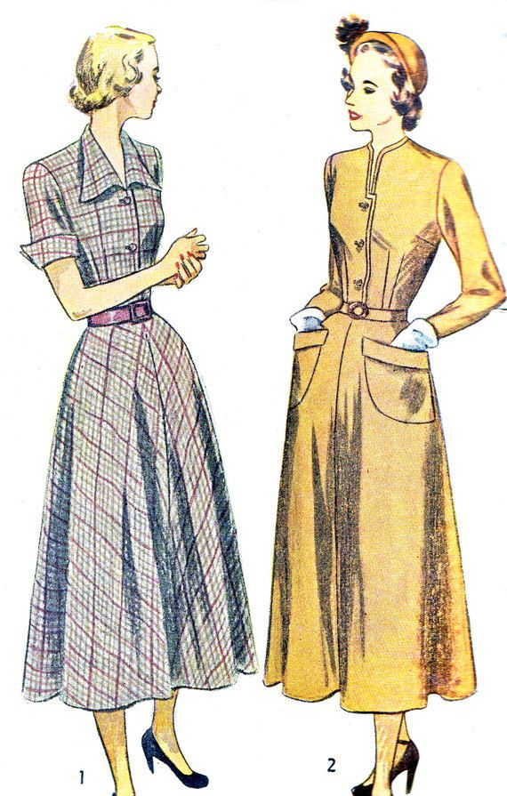 1940s Dress Pattern Simplicity 2617
