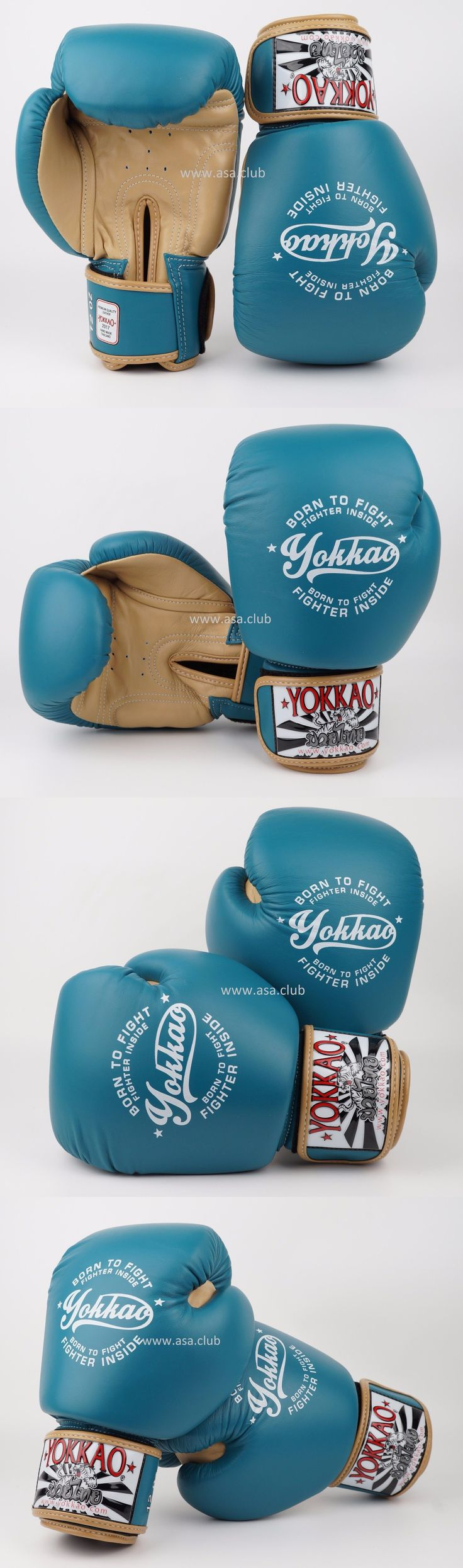 Gloves - Boxing 30102: Yokkao Vintage Boxing Blue Gloves Muay Thai.Boxing.Kickboxing Gloves 18Oz -> BUY IT NOW ONLY: $108 on eBay!